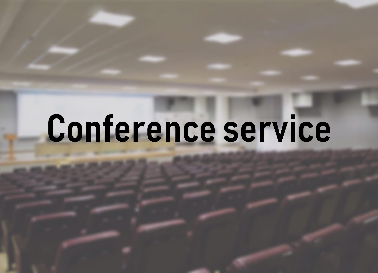 Conference services at JSC Technopark of High Technologies